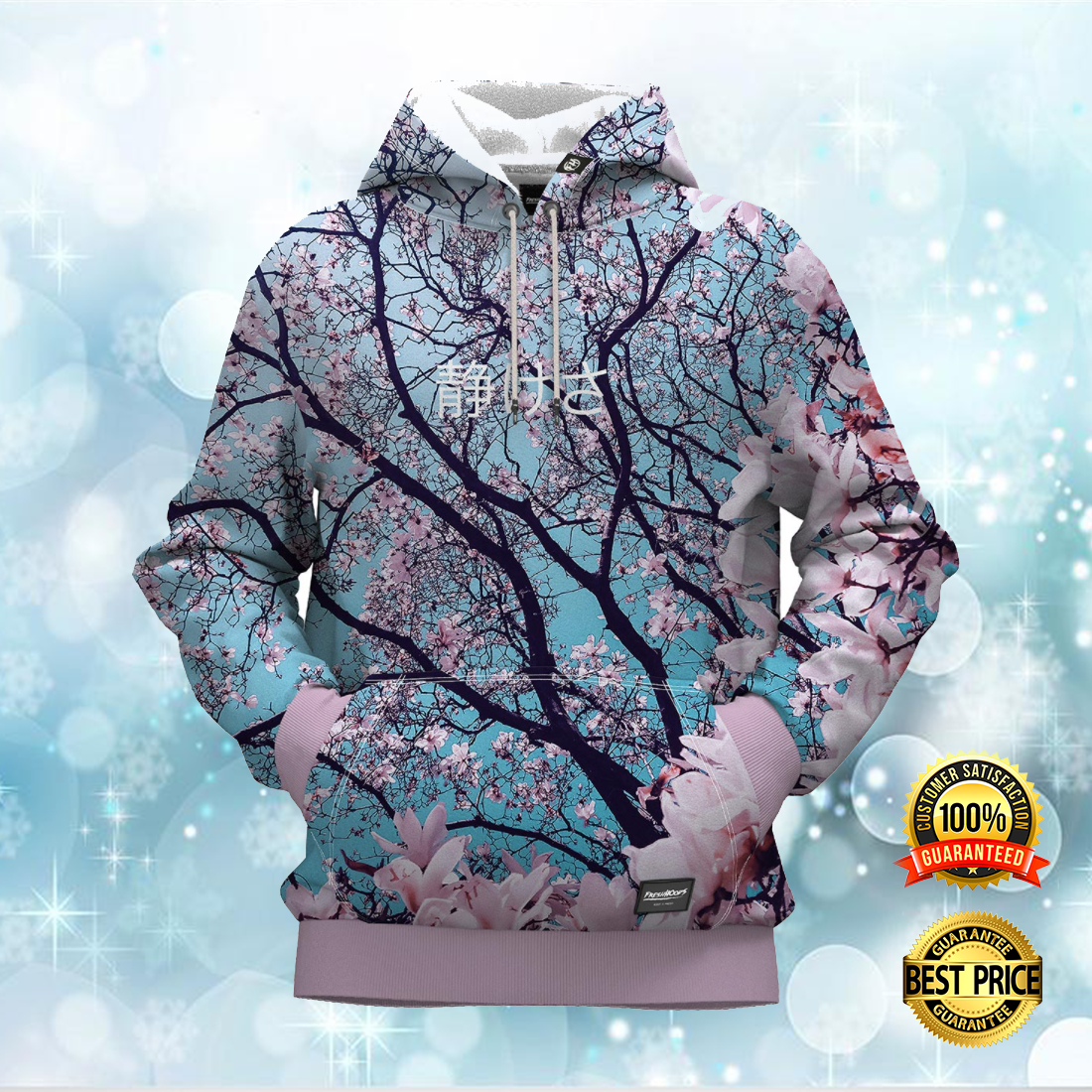 CHERRY BLOSSOM ALL OVER PRINTED 3D HOODIE 6