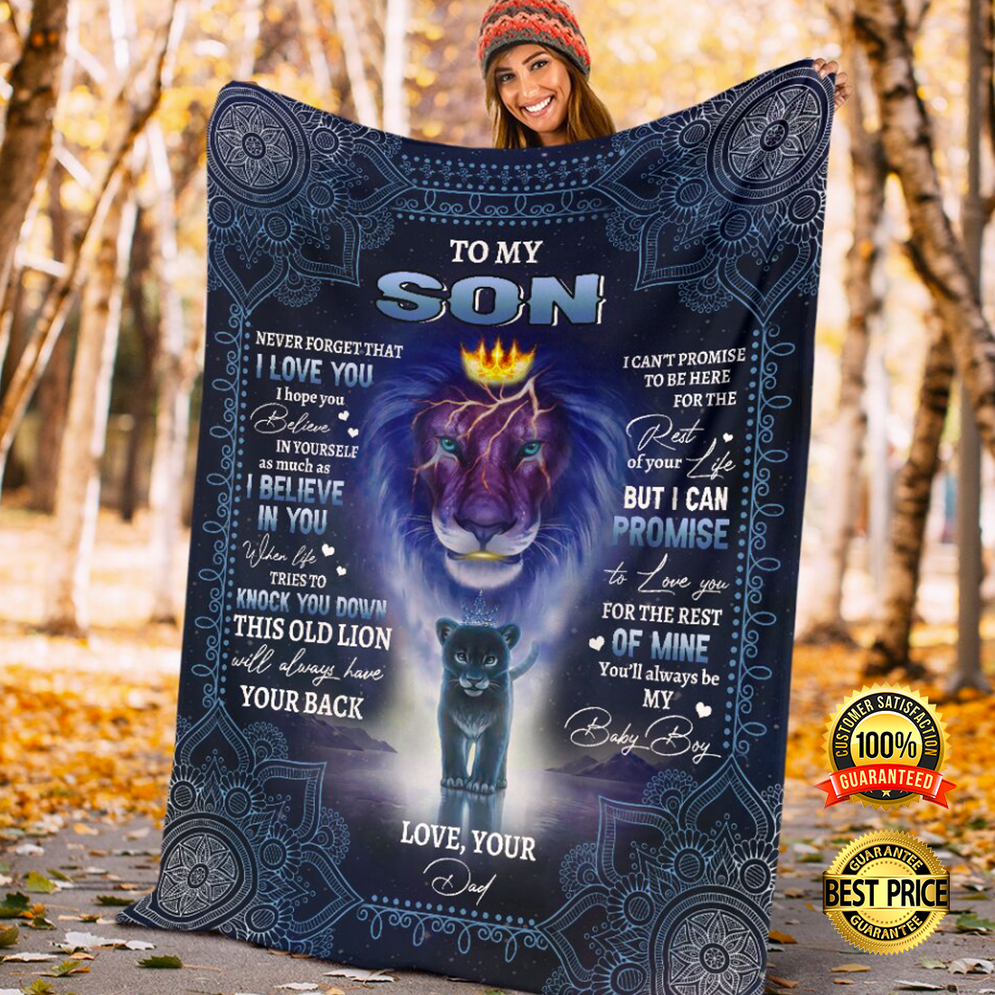 LION KING TO MY SON NEVER FORGET THAT I LOVE YOU BLANKET 6