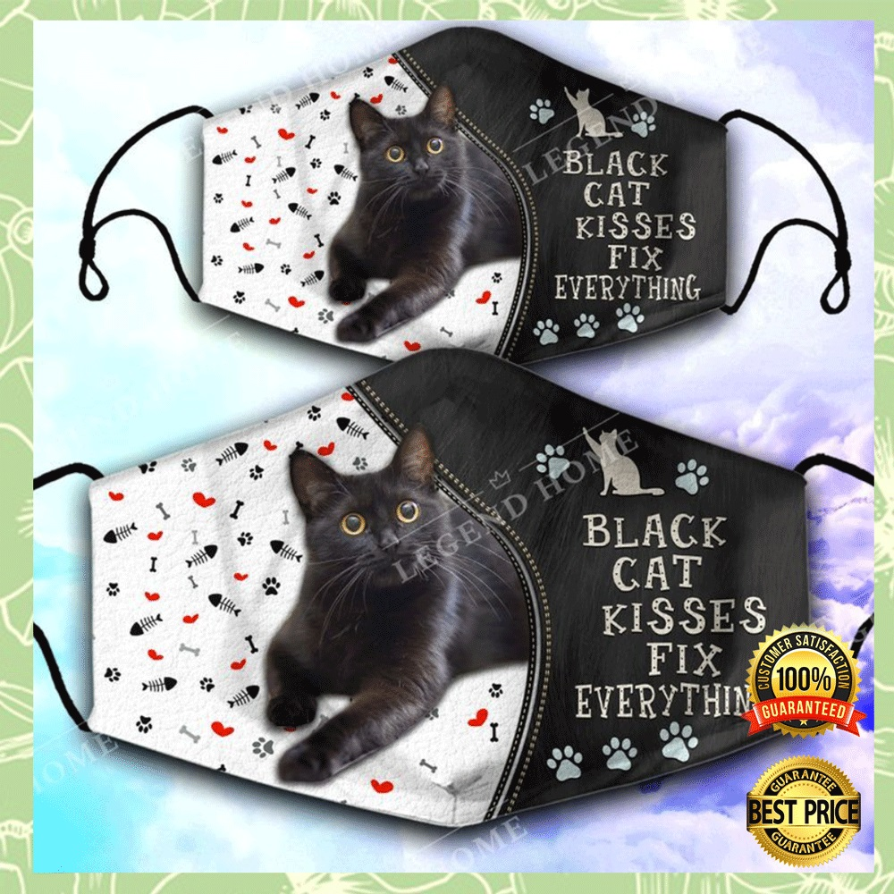 BLACK CAT KISSES FIX EVERYTHING FACE MASK 7