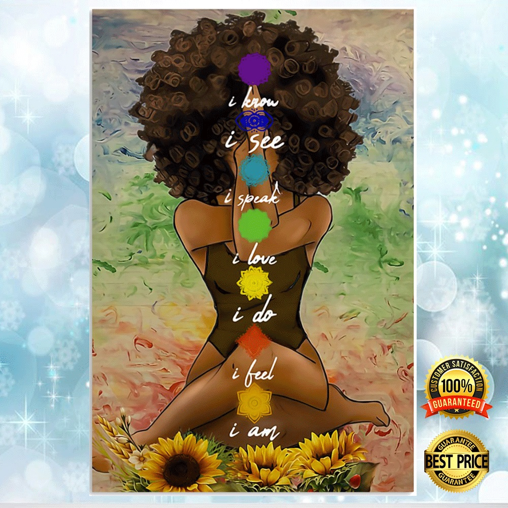 YOGA AFRICAN AMERICAN I KNOW I SEE I SPEAK POSTER 6