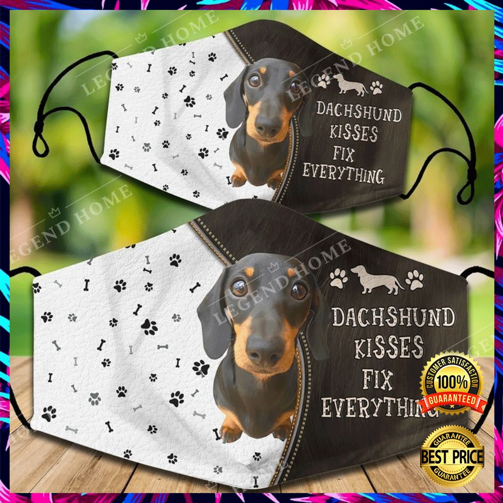 DACHSHUND KISSES FIX EVERYTHING FACE MASK 6