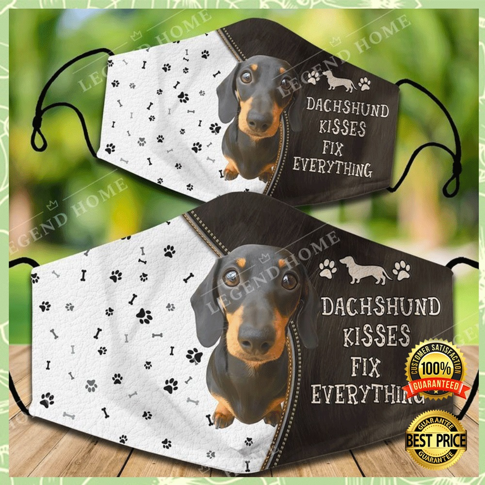 DACHSHUND KISSES FIX EVERYTHING FACE MASK 4