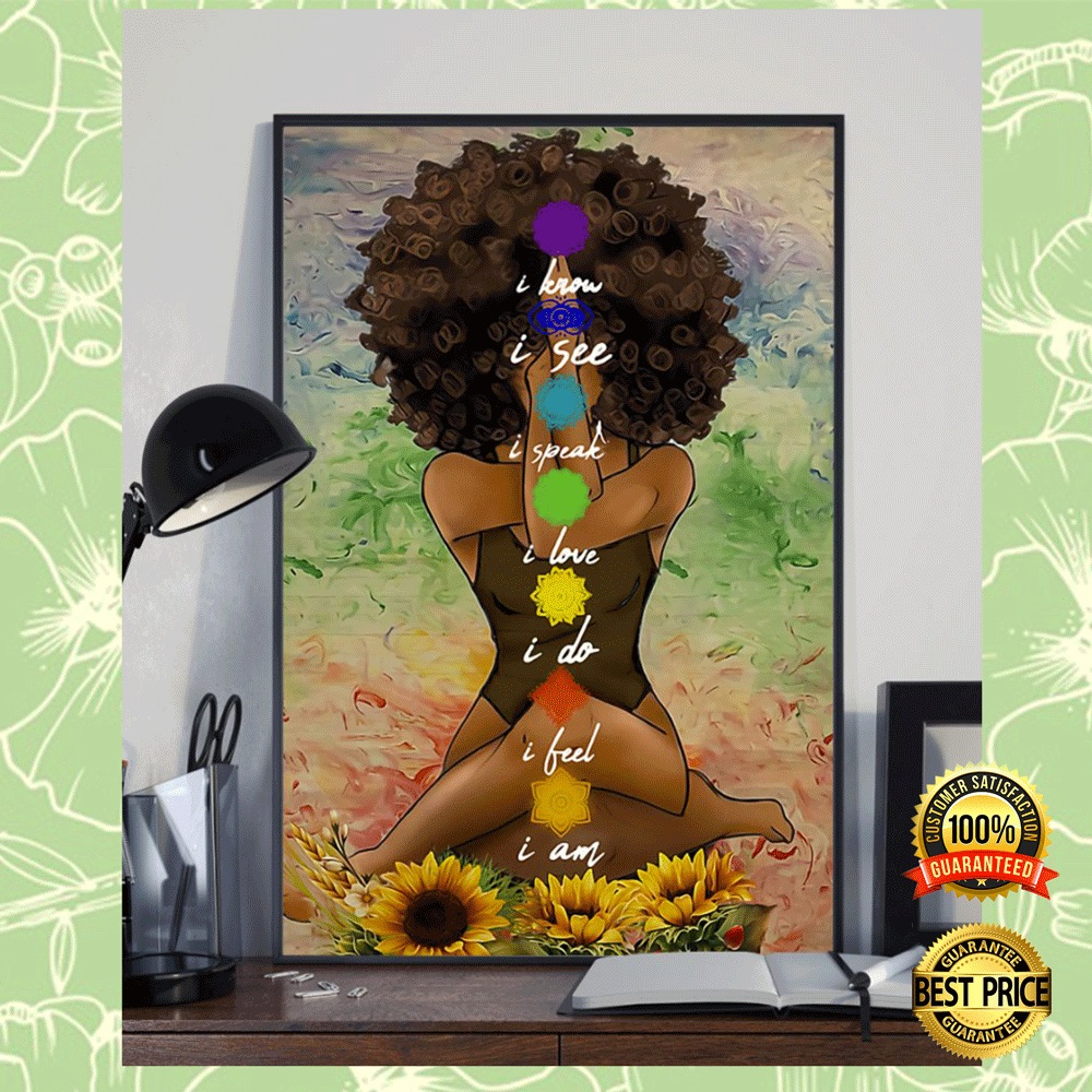 YOGA AFRICAN AMERICAN I KNOW I SEE I SPEAK POSTER 4