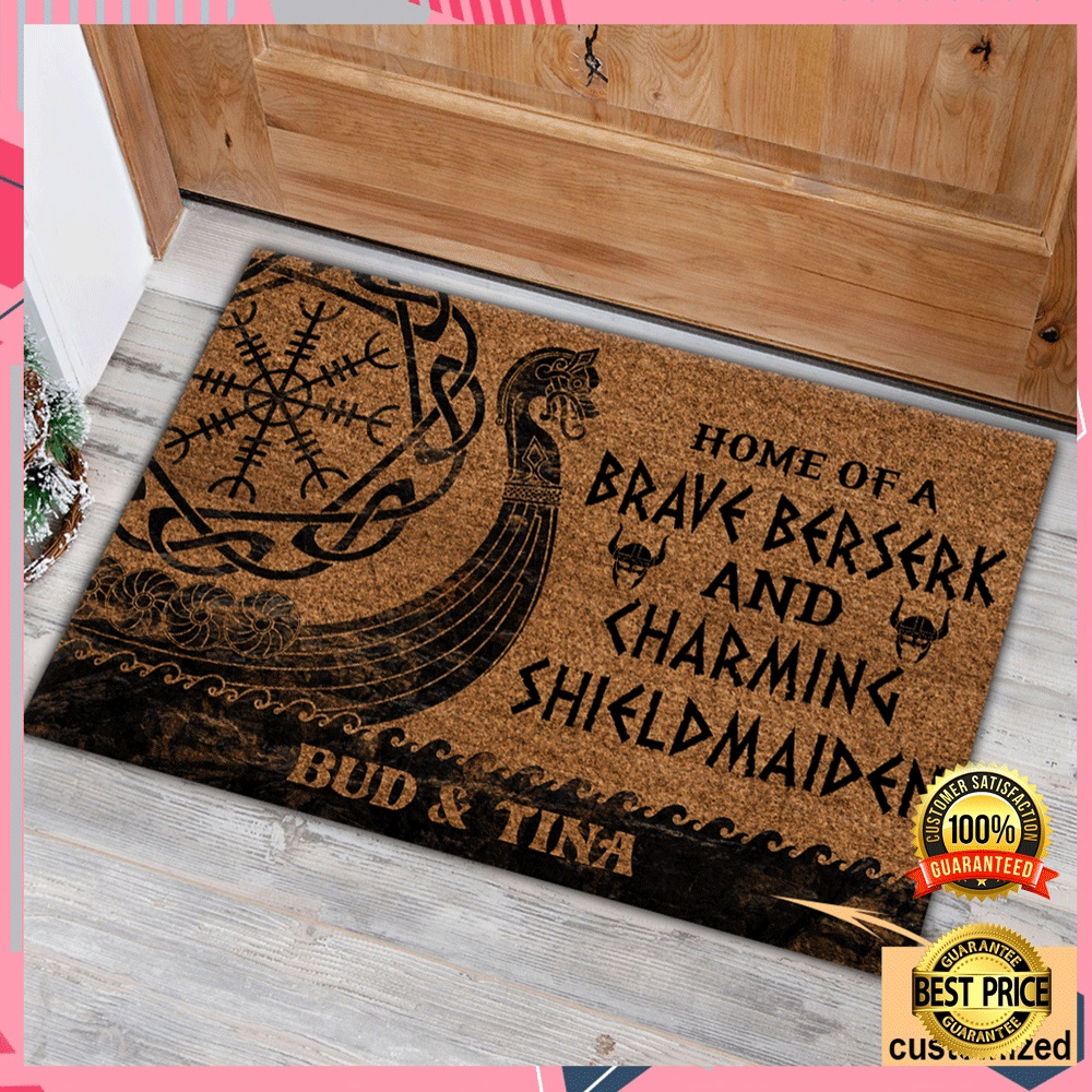PERSONALIZED HOME OF A BRAVE BERSERK AND CHARMING SHIELDMAIDEN DOORMAT 6