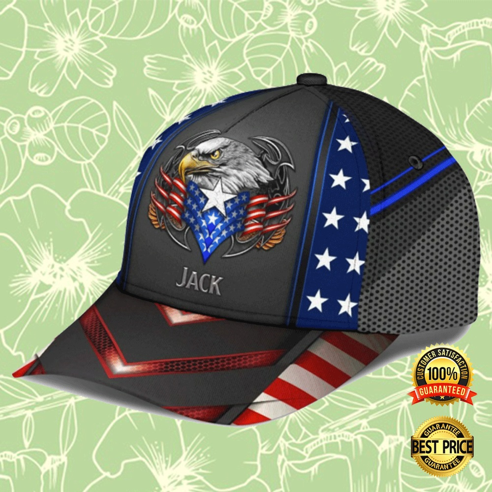 PERSONALIZED EAGLE PROUD AMERICAN CAP 4