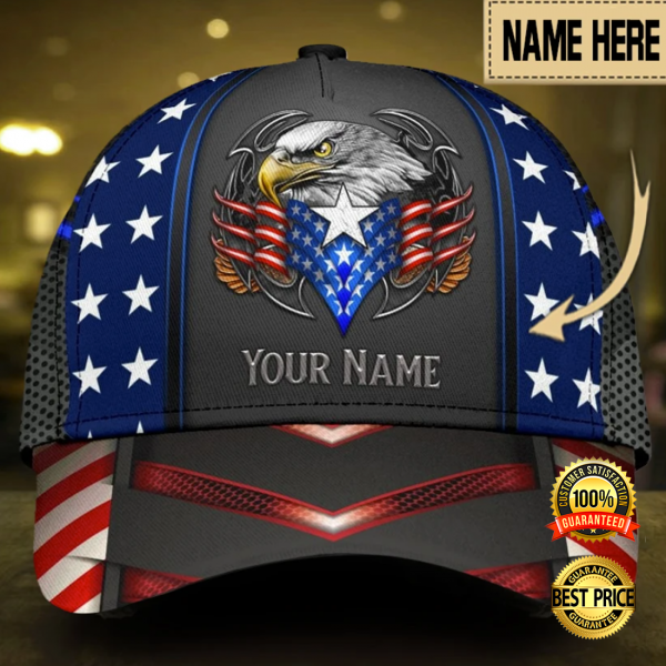 PERSONALIZED EAGLE PROUD AMERICAN CAP 6