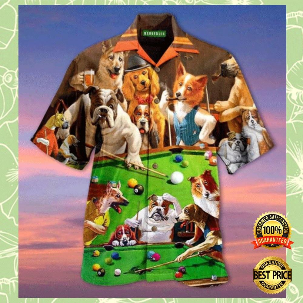 DOGS PLAYING BILLIARDS HAWAIIAN SHIRT 7