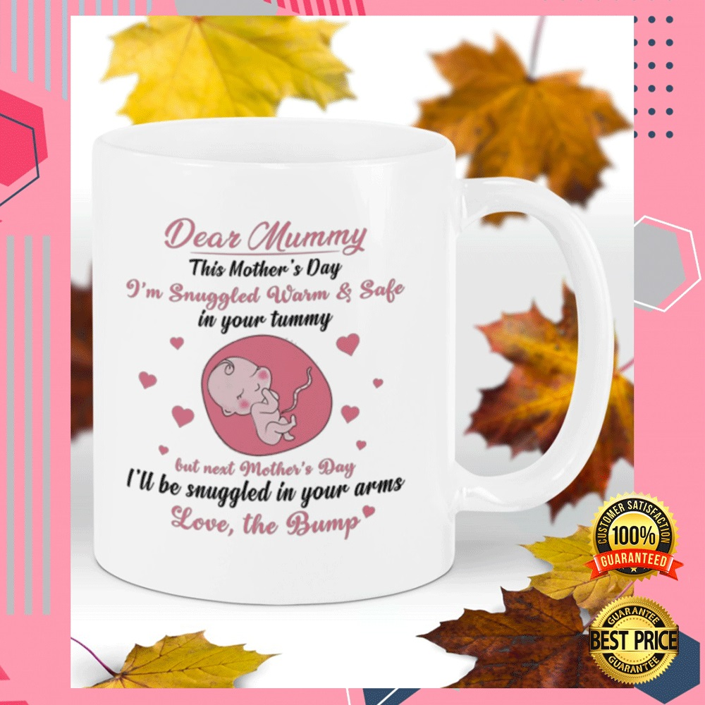 DEAR MUMMY THIS MOTHER'S DAY I'M SNUGGLED WARM AND SAFE IN YOUR TUMMY MUG 5