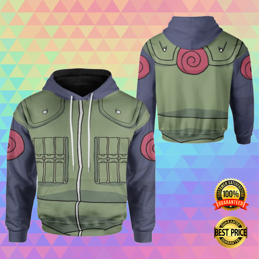 KAKASHI COSPLAY ALL OVER PRINTED 3D HOODIE 5