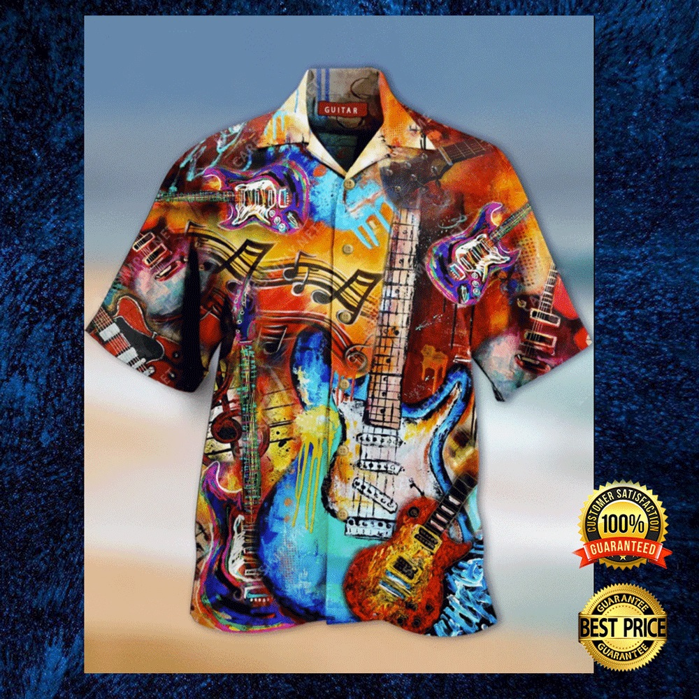GUITAR VINTAGE HAWAIIAN SHIRT 4