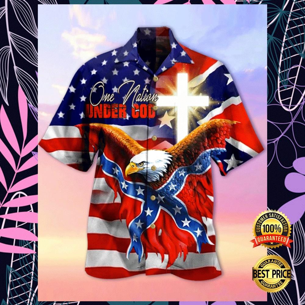 EAGLE ONE NATION UNDER GOD HAWAIIAN SHIRT 5