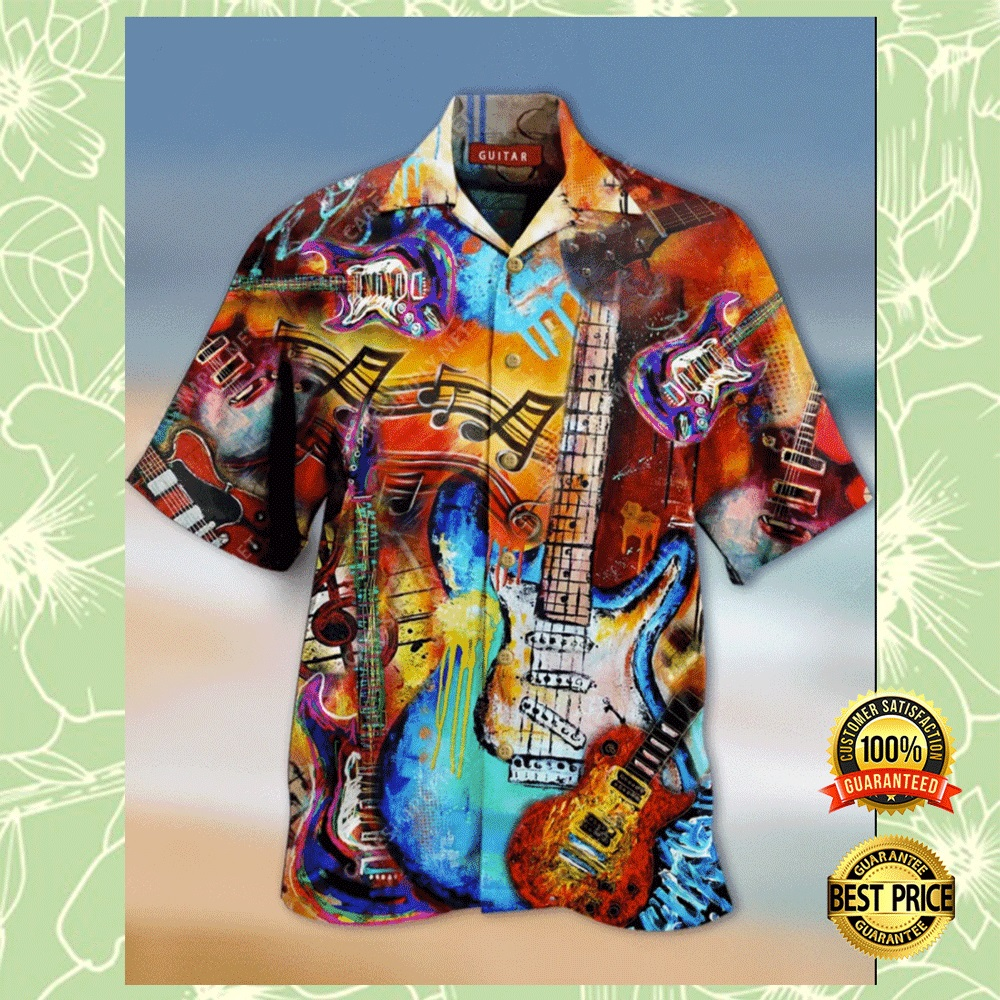 GUITAR VINTAGE HAWAIIAN SHIRT 6