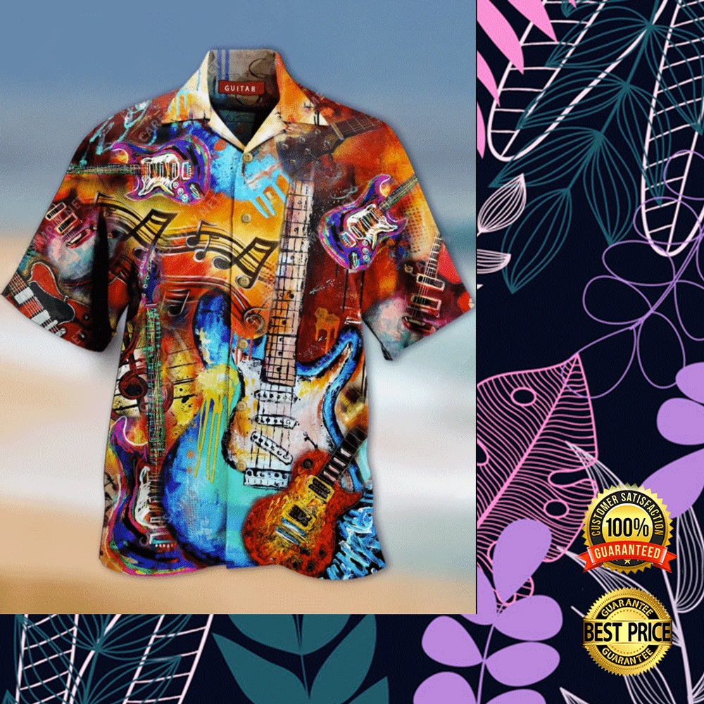 GUITAR VINTAGE HAWAIIAN SHIRT 5