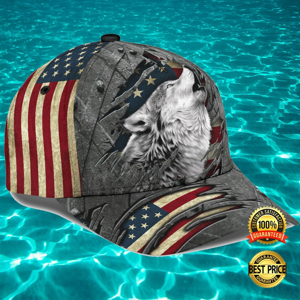WOLF CRACK AMERICAN FLAG CAP 7