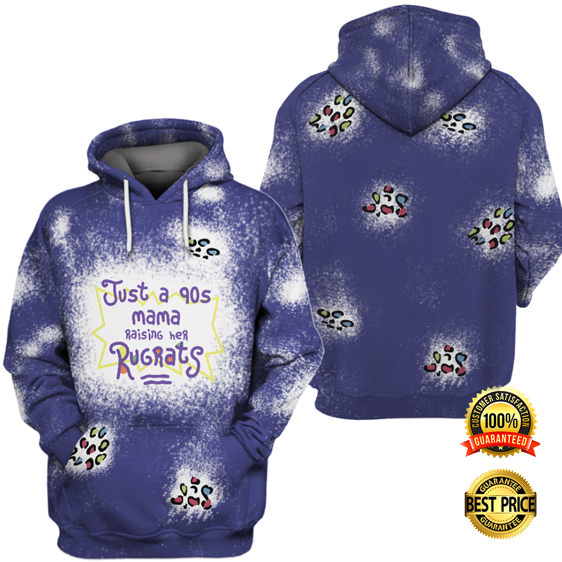 JUST A 90S MAMA RAISING HER RUGRATS ALL OVER PRINTED 3D HOODIE 6