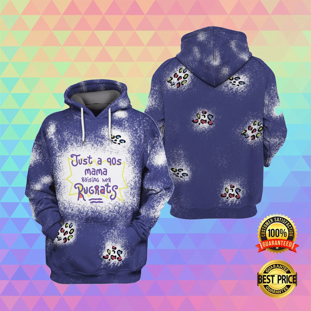 JUST A 90S MAMA RAISING HER RUGRATS ALL OVER PRINTED 3D HOODIE 5