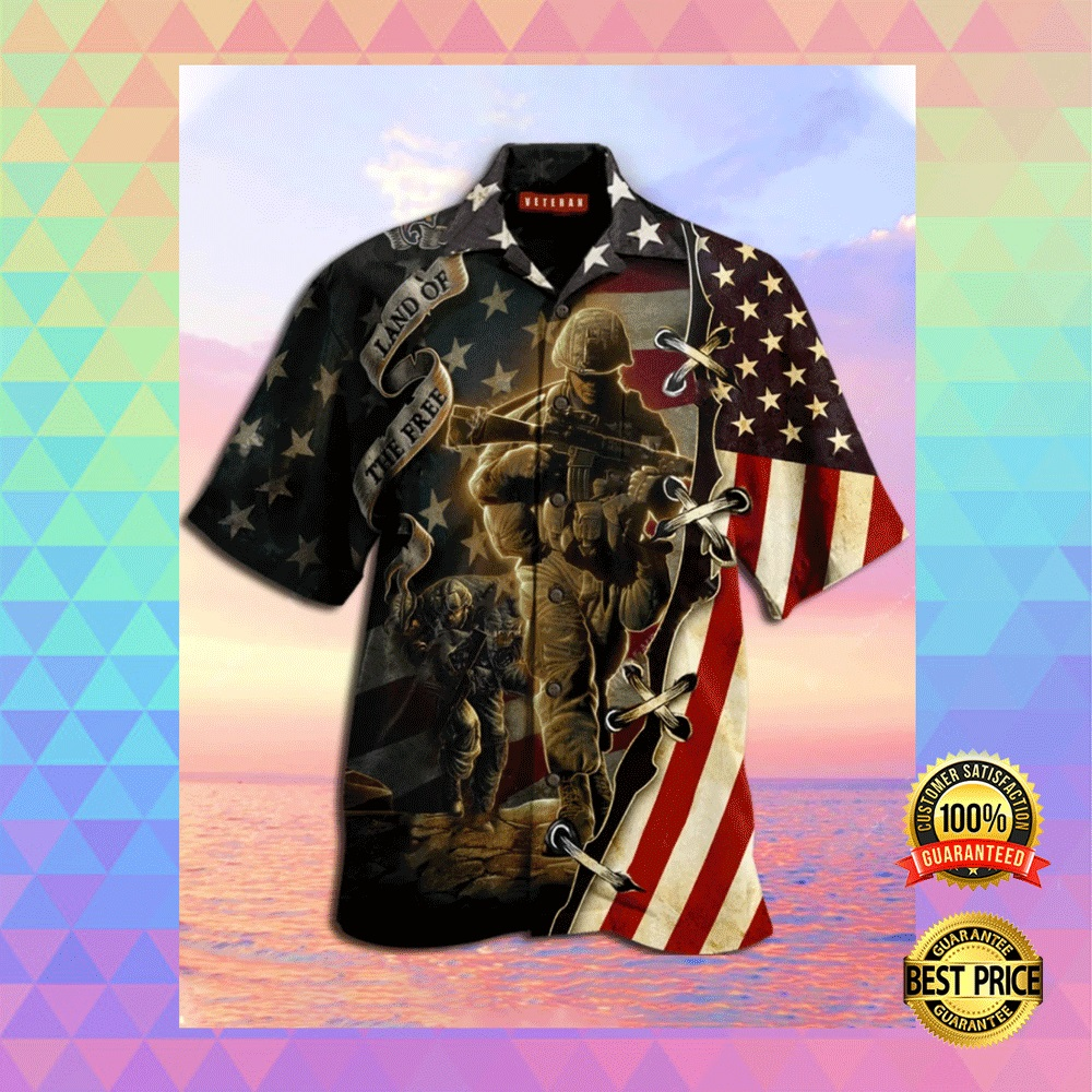 AMERICA LAND OF THE FREE HAWAIIAN SHIRT 4