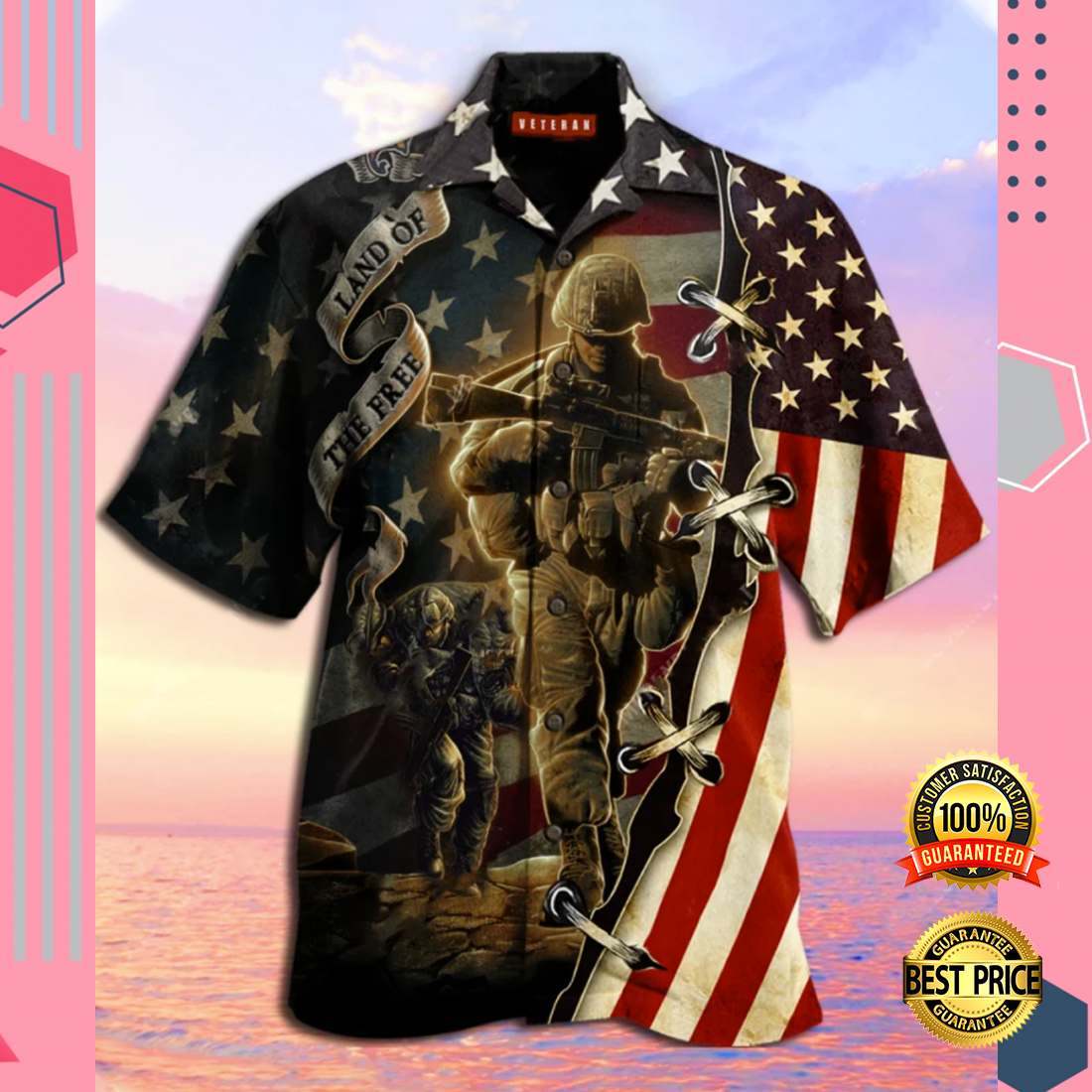 AMERICA LAND OF THE FREE HAWAIIAN SHIRT 5