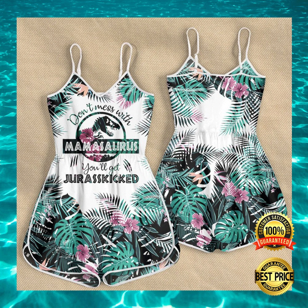 DON'T MESS WITH MAMASAURUS YOU'LL GET JURASSKICKED ROMPER 5