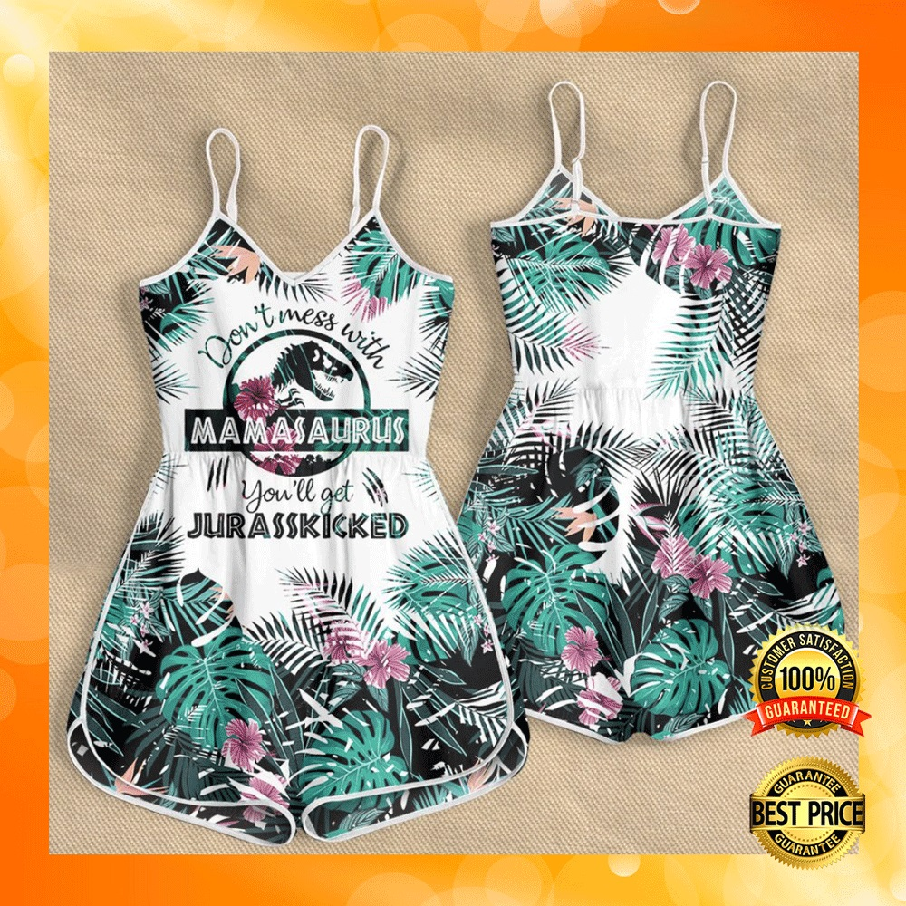 DON'T MESS WITH MAMASAURUS YOU'LL GET JURASSKICKED ROMPER 6
