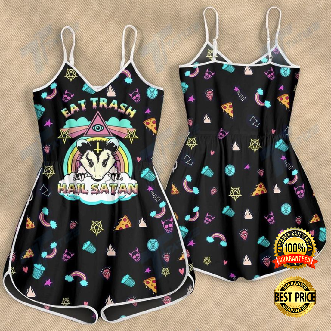 EAT TRASH HAIL SATAN ROMPER 4