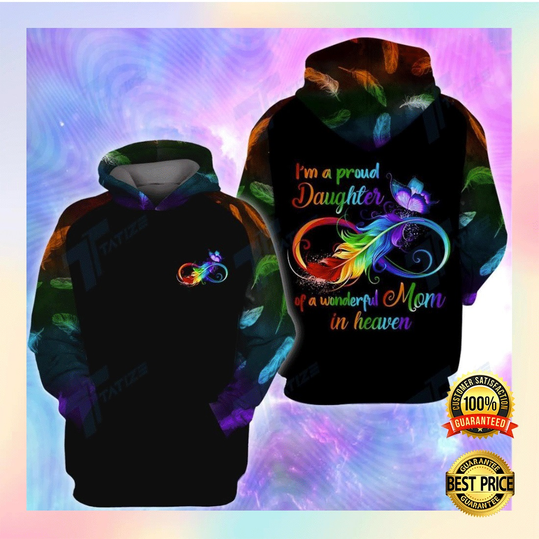 I'M A PROUD DAUGHTER OF A WONDERFUL MOM IN HEAVEN ALL OVER PRINTED 3D HOODIE 6