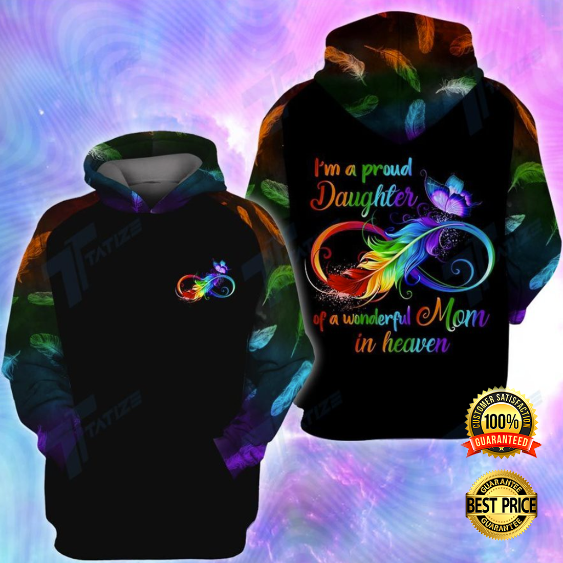 I'M A PROUD DAUGHTER OF A WONDERFUL MOM IN HEAVEN ALL OVER PRINTED 3D HOODIE 4