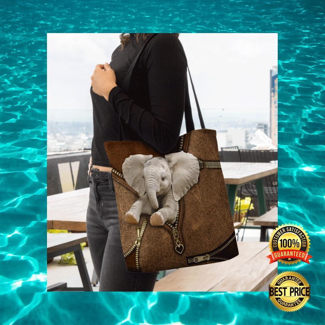 ELEPHANT ZIPPER TOTE BAG 6