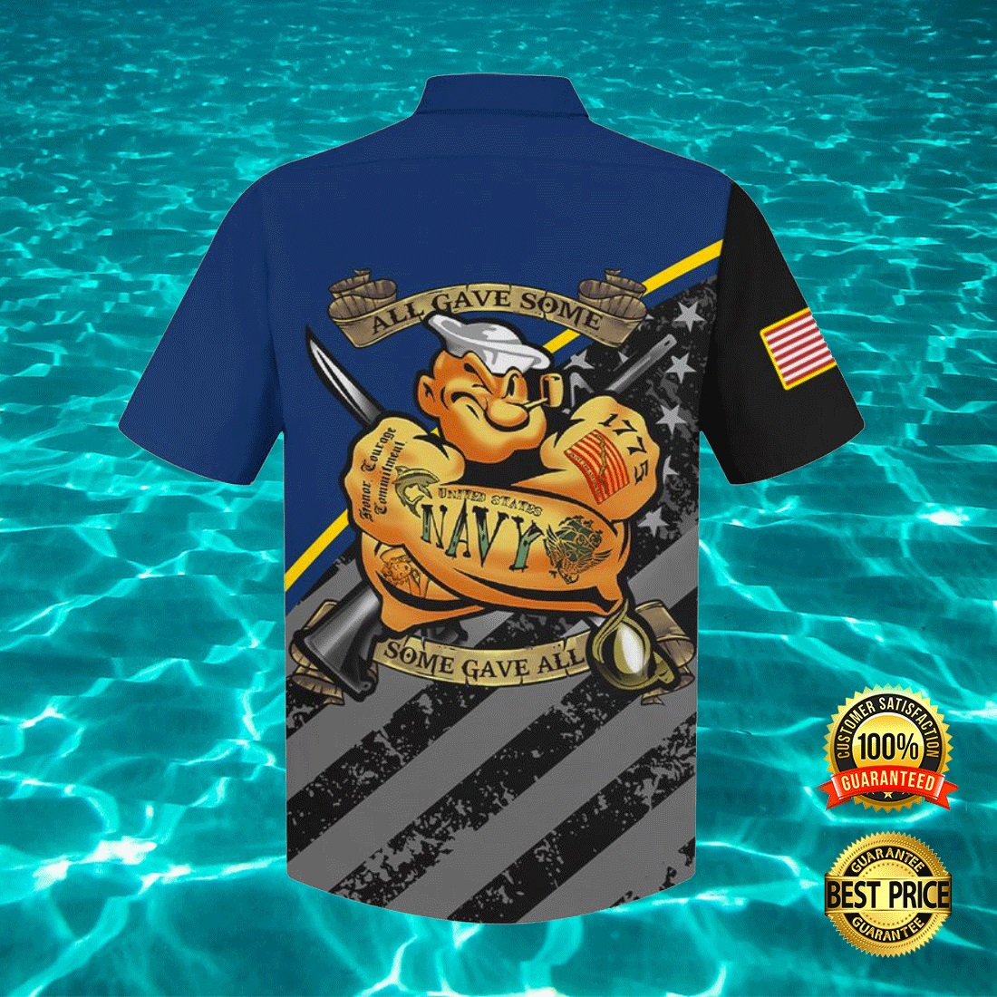 POPEYE US NAVY ALL GAVE SOME SOME GAVE ALL HAWAIIAN SHIRT 6