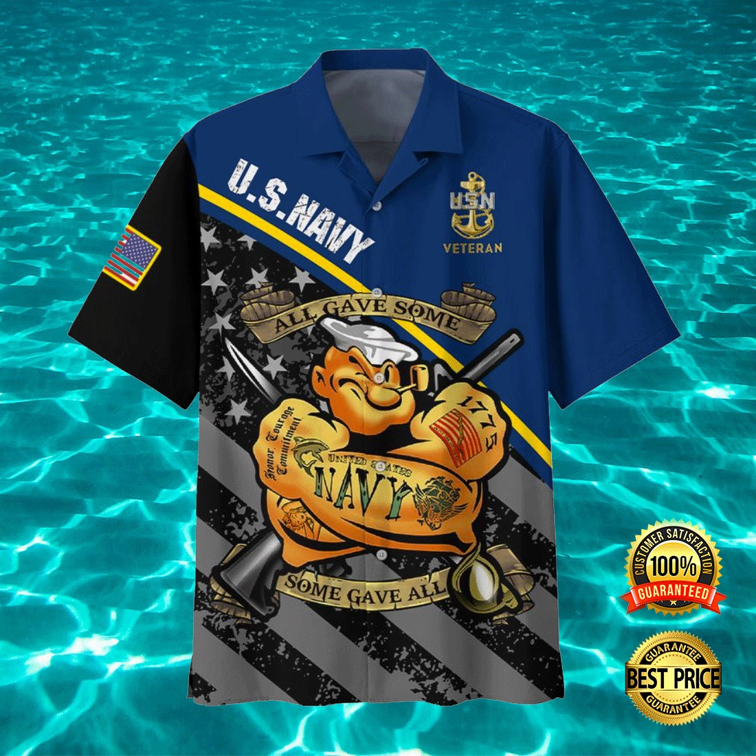 POPEYE US NAVY ALL GAVE SOME SOME GAVE ALL HAWAIIAN SHIRT 7