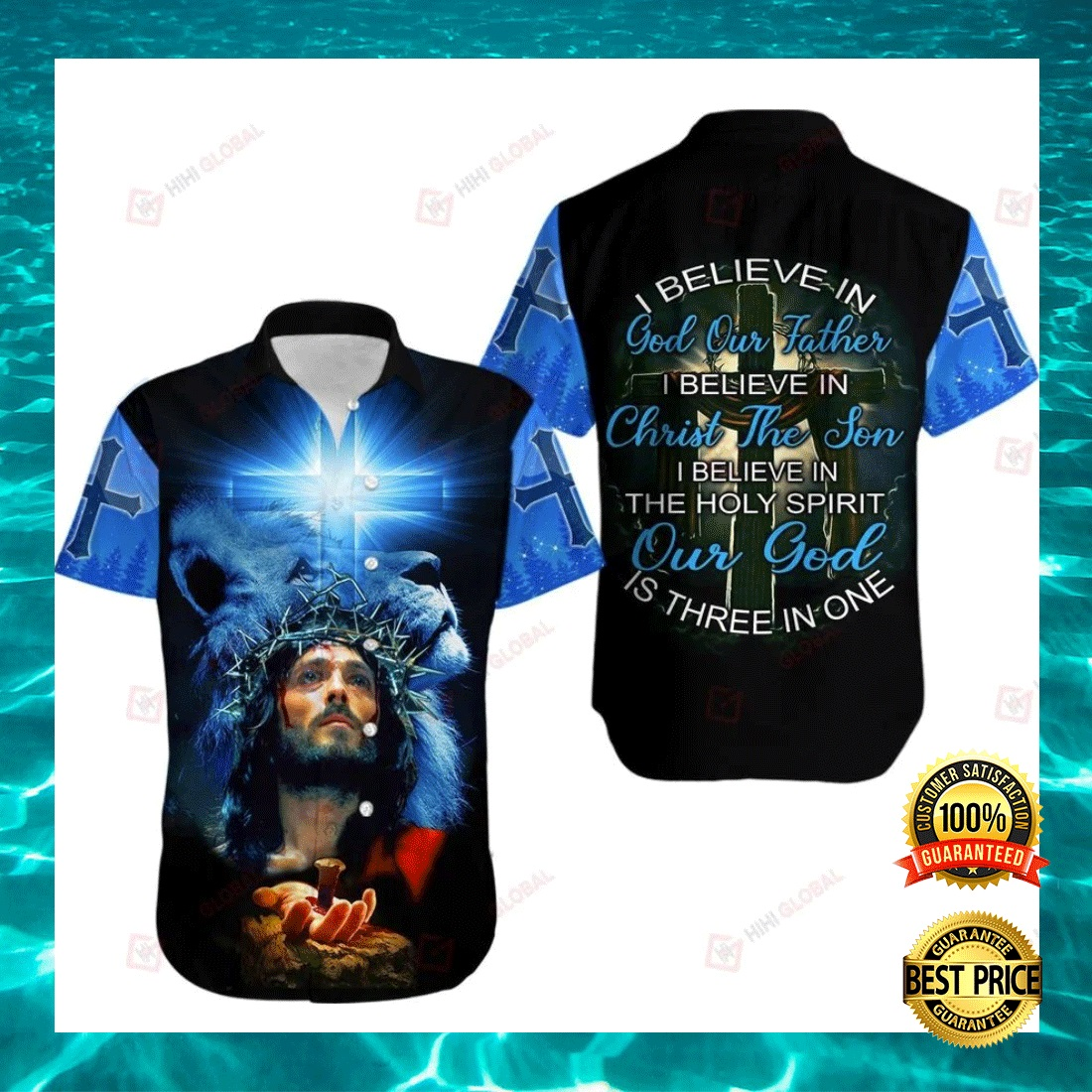 I BELIEVE IN GOD OUR FATHER I BELIEVE IN CHRIST THE SON HAWAIIAN SHIRT 4