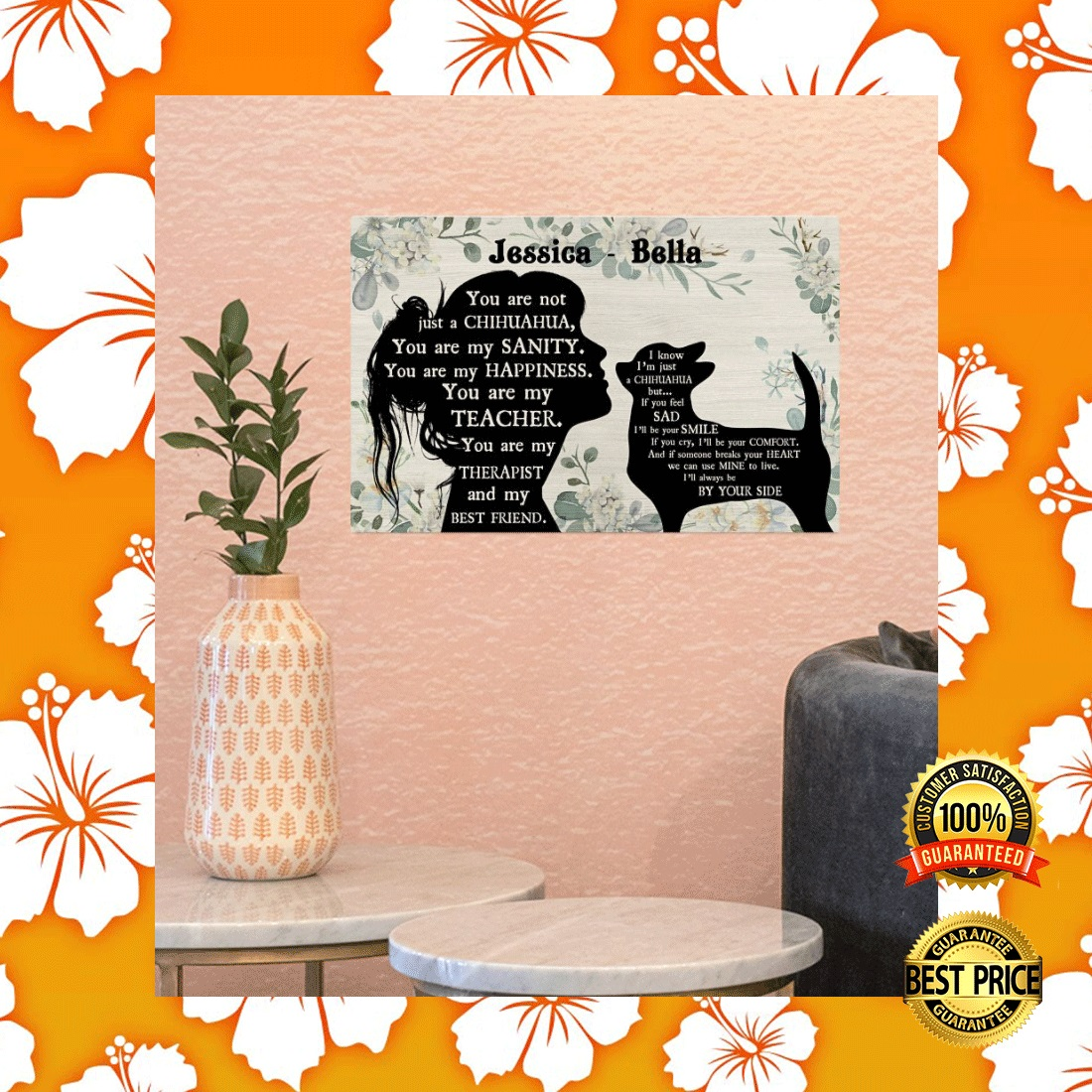 PERSONALIZED GIRL AND CHIHUAHUA YOU ARE NOT JUST A CHIHUAHUA POSTER 6