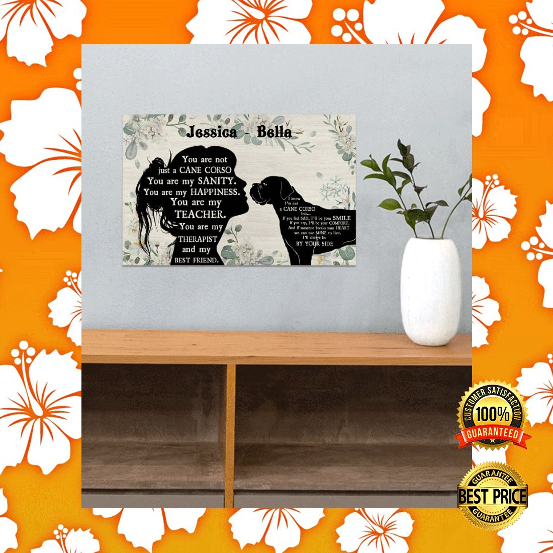 PERSONALIZED GIRL AND CANE CORSE YOU ARE NOT JUST A CANE CORSE POSTER 4
