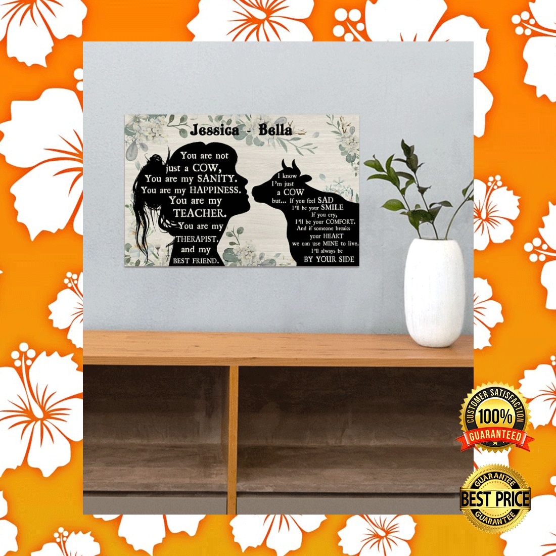 PERSONALIZED GIRL AND COW YOU ARE NOT JUST A COW POSTER 4
