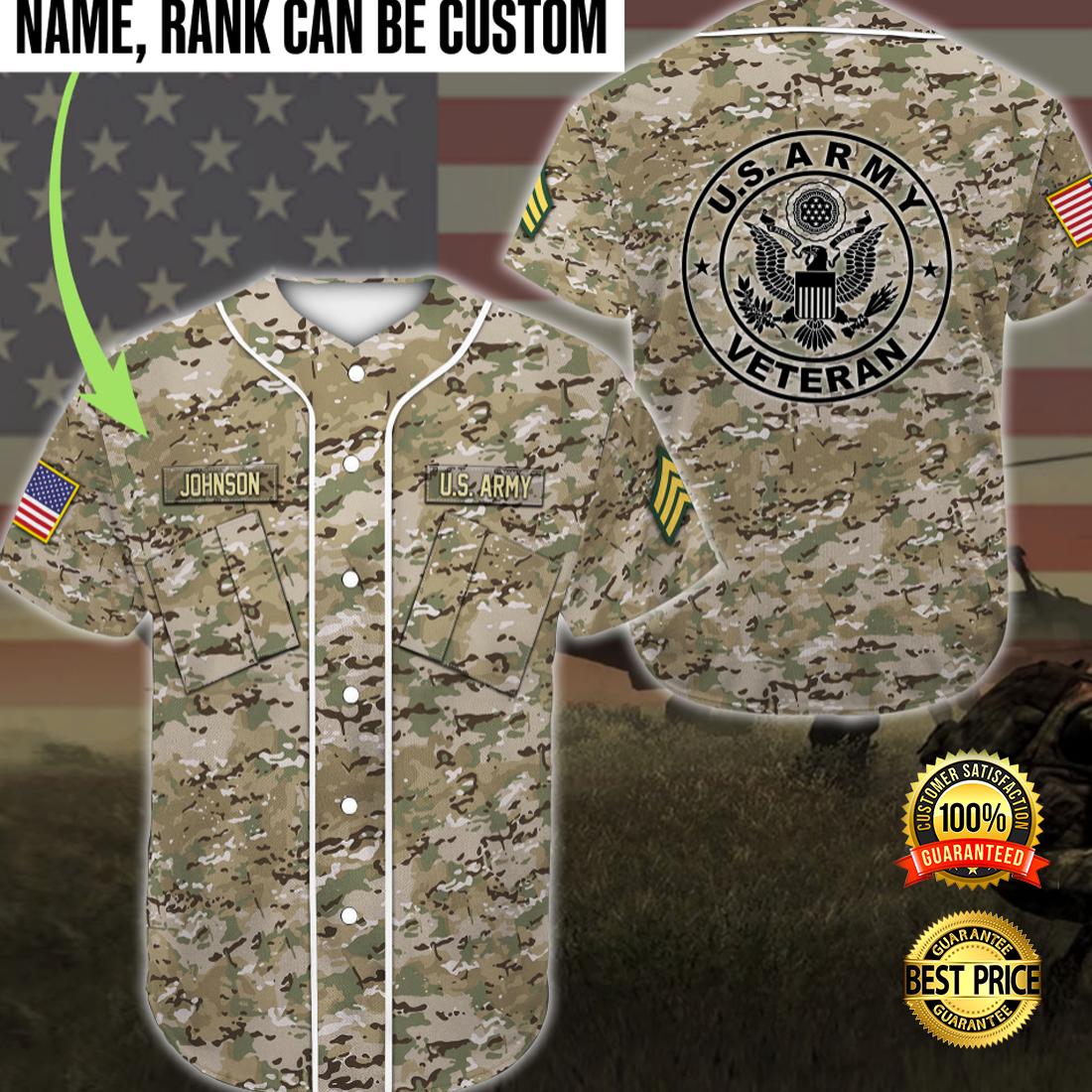 US ARMY VETERAN CAMO BASEBALL JERSEY 4