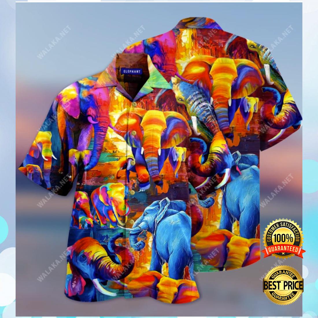 COLORFUL ELEPHANT HAWAIIAN SHIRT 4