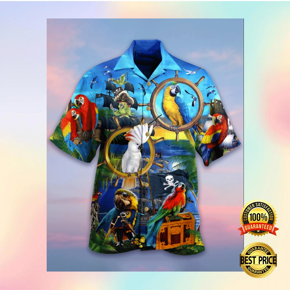 PARROT PIRATE HAWAIIAN SHIRT 6