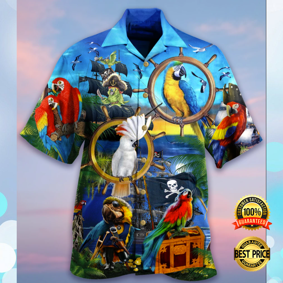 PARROT PIRATE HAWAIIAN SHIRT 4