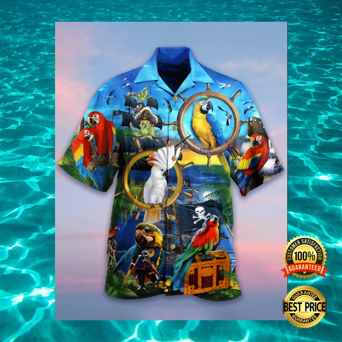 PARROT PIRATE HAWAIIAN SHIRT 5